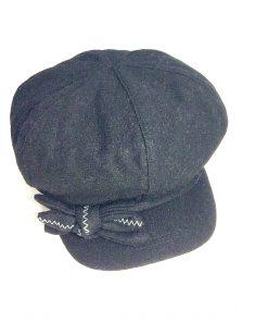 NINE WEST | כובע קסקט פפיון שחור ניין ווסט