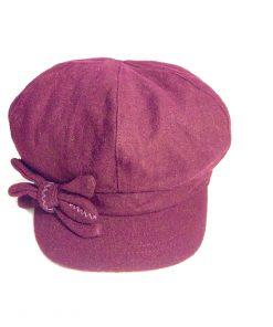 NINE WEST   כובע קסקט פפיון בורדו ניין ווסט