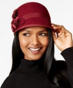 NINE WEST | כובע לבד שושנים ניין ווסט