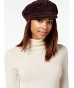 AUGUST HAT | כובע קסקט סרוג חום אוגוסט הט