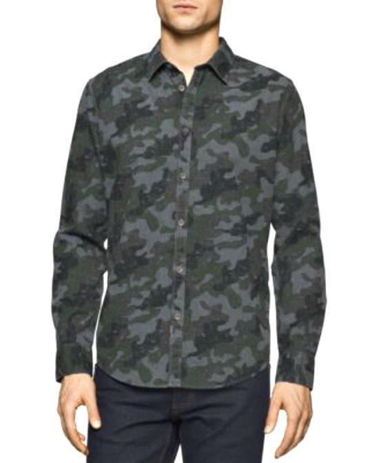 Calvin Klein   חולצה מכופתרת מיליטרי קלווין קליין