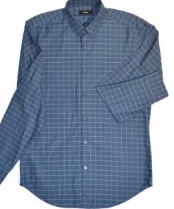 THEORY | חולצה כחולה טרנדית משבצות תאוריה