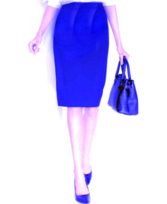 Alfani | חצאית עיפרון כחולה אלפני