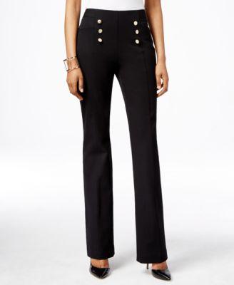 INC | מכנס שחור בגזרה גבוה איאנסי