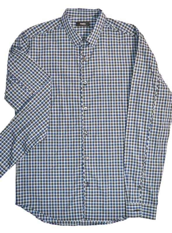 THEORY   חולצת משבצות קטנות אופנתית תאוריה