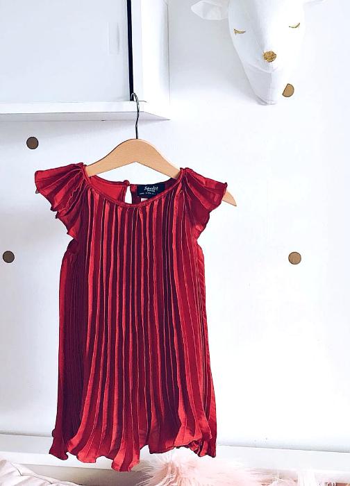 Bardot   שמלת פליסה אדומה ברדו