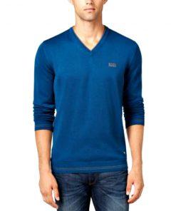HUGO BOSS | סוודר כחול/טורקיז הוגו בוס
