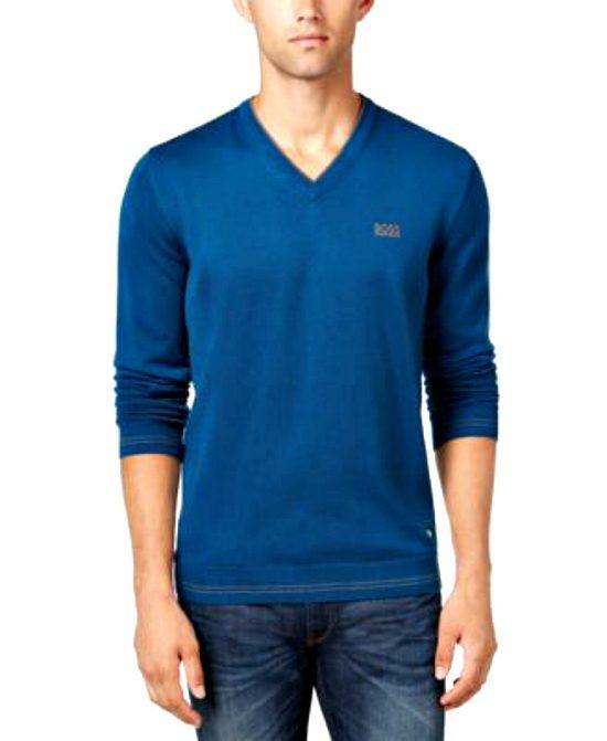 HUGO BOSS   סוודר כחול/טורקיז הוגו בוס