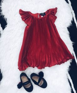 Bardot | שמלת פליסה אדומה ברדו