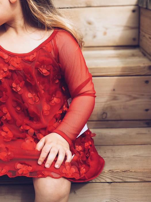 Bardot | שמלת פרחים אדומה ברדו