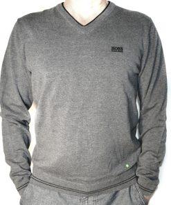 HUGO BOSS | סוודר אפור הוגו בוס