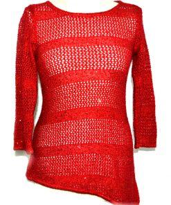 INC | סוודר אדום איאנסי
