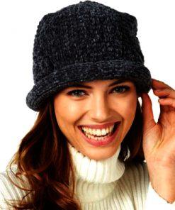 AUGUST HAT | כובע גרב סרוג שחור אוגוסט הט
