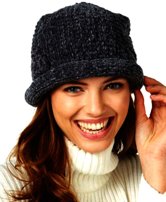AUGUST HAT   כובע גרב סרוג שחור אוגוסט הט