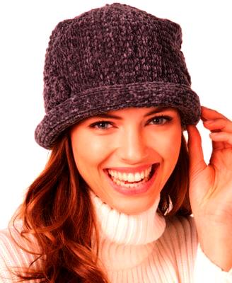 AUGUST HAT   כובע גרב סרוג חום אוגוסט הט