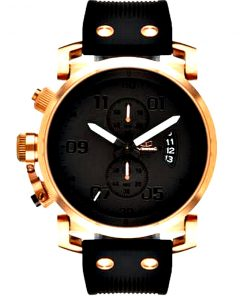 Vestal | שעון יוקרתי יוניסקס שחור/זהב אדום ווסטל