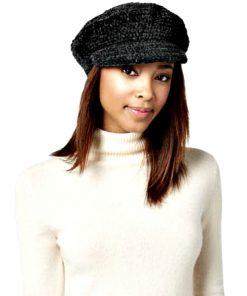 AUGUST HAT | כובע קסקט סרוג שחור אוגוסט הט