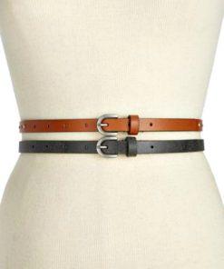 Style   סט 2 חגורות ניטים סטייל