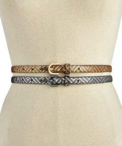 INC | סט 2 חגורות זהב/כסף אייאנסי