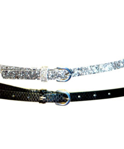 INC   סט 2 חגורות שחור/כסף אייאנסי