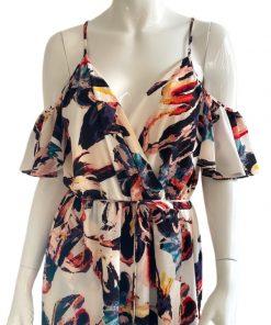 Bar | שמלת מקסי קולדפרינט בר
