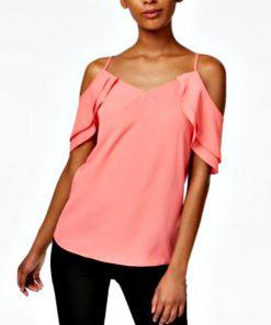 Bar | חולצה דראפדאוף אסימטרית בר