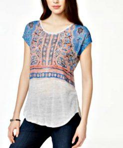 LUCKY BRAND | חולצה בוהמיק לאקי בראנד