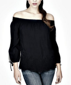 LUCKY BRAND | חולצת קרוצ׳ט לאקי בראנד