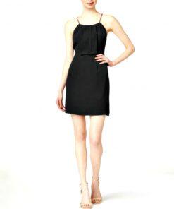 Kensie | שמלת לייס קונטראסט קנסי