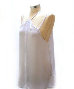 No Comment | חולצת כתפיות לבנה נו קומנט