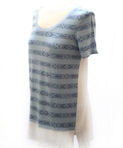 Bass | חולצה אופנתית כחול/לבן בס