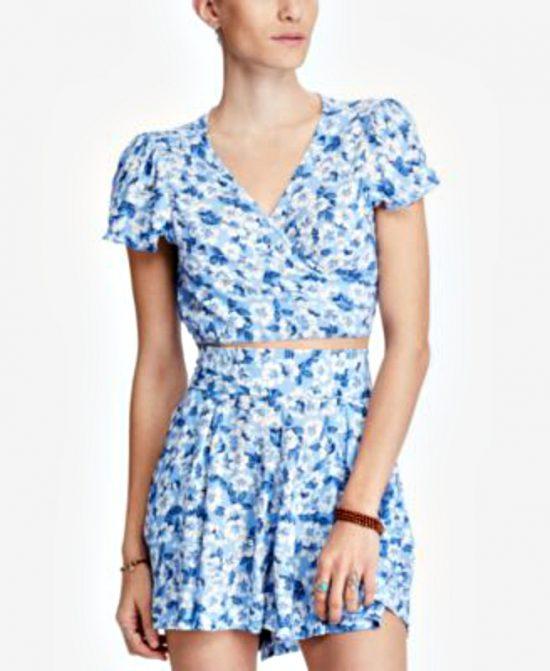 Ralph Lauren | חולצת מעטפת פלורל ראלף לורן