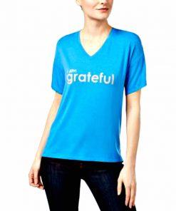 Peace Love World   חולצת אוברסייז כחולה פיס לוב וורד