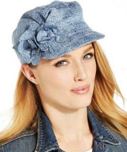 COLLECTION   כובע קסקט ג׳ינס פרחים קולקשיין