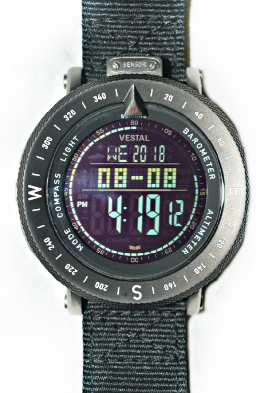 Vestal | שעון ספורט נירוסטה שחור ווסטל