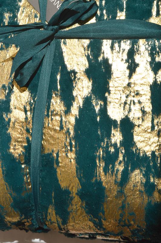 Envogue   כרית נוי פרווה יוקרתית ירוק אנווג