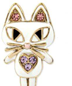 Betsey Johnson | שרשרת חתול משובץ בטסי ג'ונסון