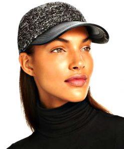 AUGUST HAT   כובע קסקט שחור עור אוגוסט הט