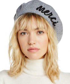 AUGUST HAT | כובע ברט אפור אוגוסט הט