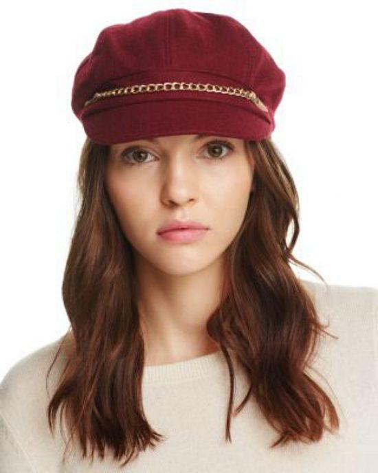 AUGUST HAT | כובע בורדו בעיצוב שרשרת אוגוסט הט