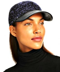 AUGUST HAT | כובע קסקט כחול עור אוגוסט הט