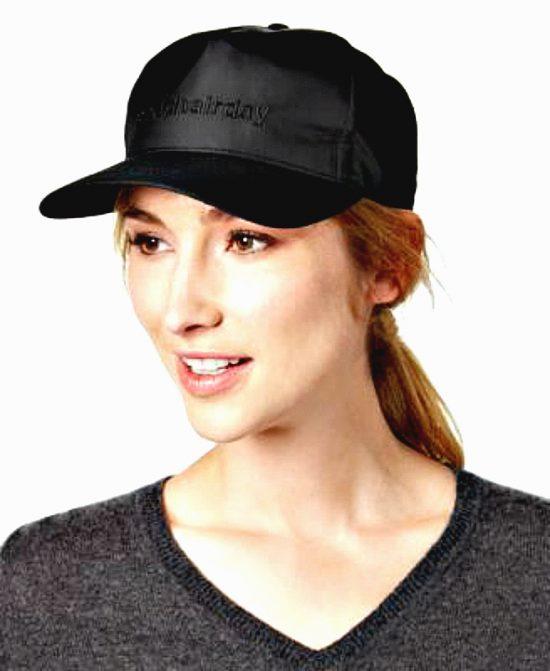 AUGUST HAT   כובע קסקט שחור ניילון אוגוסט הט