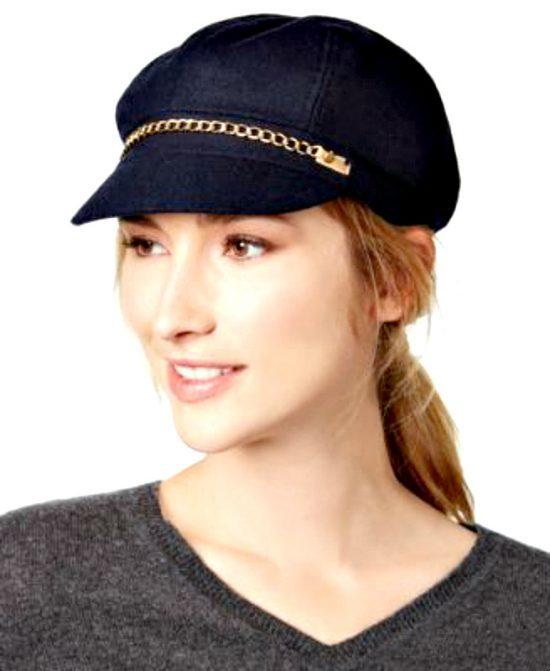 AUGUST HAT | כובע שחור בעיצוב שרשרת אוגוסט הט