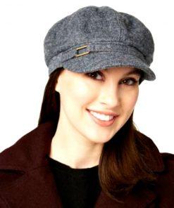 NINE WEST   כובע אפור פאשן ניין ווסט