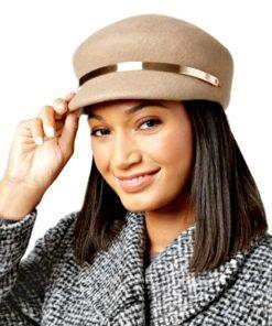 NINE WEST | כובע מוקה פס זהב ניין ווסט