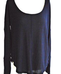 LUCKY BRAND | חולצת וופל לאקי בראנד