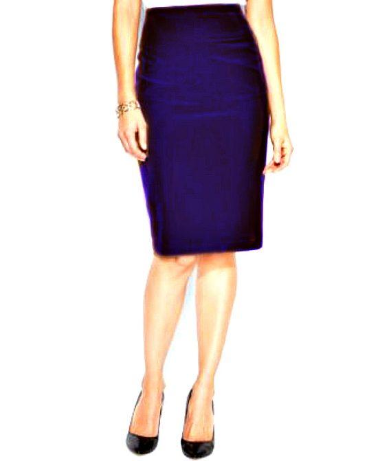 Alfani | חצאית עיפרון כחול כהה אלפני