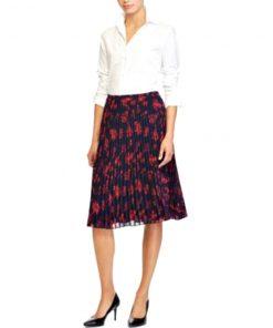 Ralph Lauren | חצאית פליסה כחולה ראלף לורן