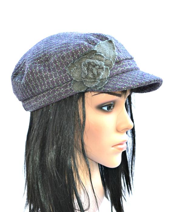 COLLECTION   כובע קסקט סגול פרח קולקשיין