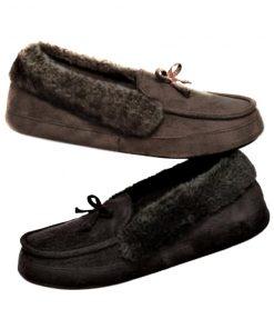 Isotoner | נעלי בית פרווה אפורות איזוטונר